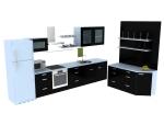 现代橱柜3D模型下载