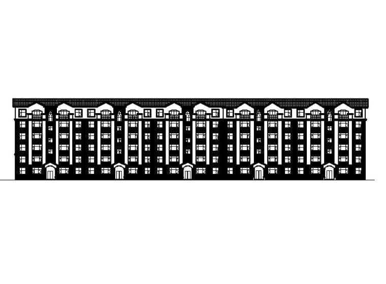 [寧夏]六層磚混結構新中式風格住宅建筑施工圖(含效果圖)