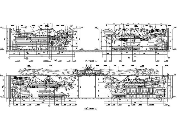 主题乐园入口施工图