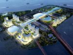 知名大桥口岸办公区、旅检区、交通中心等结构施工图