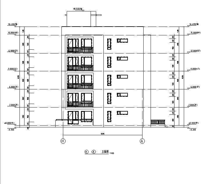 [吉林]多层框架剪力墙结构度假区住宅建筑施工图_4