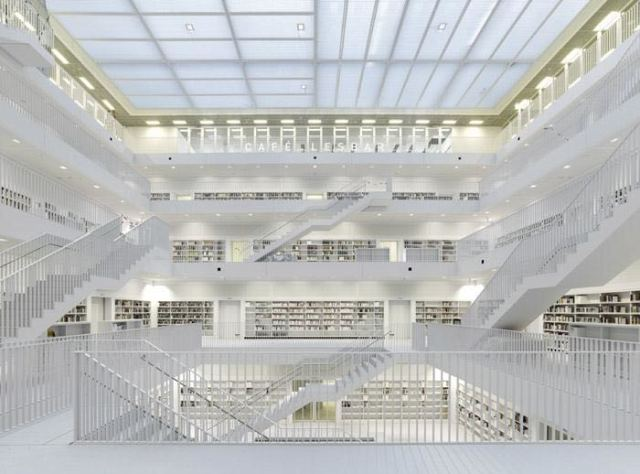 德国斯图尔特城市图书馆第5张图片
