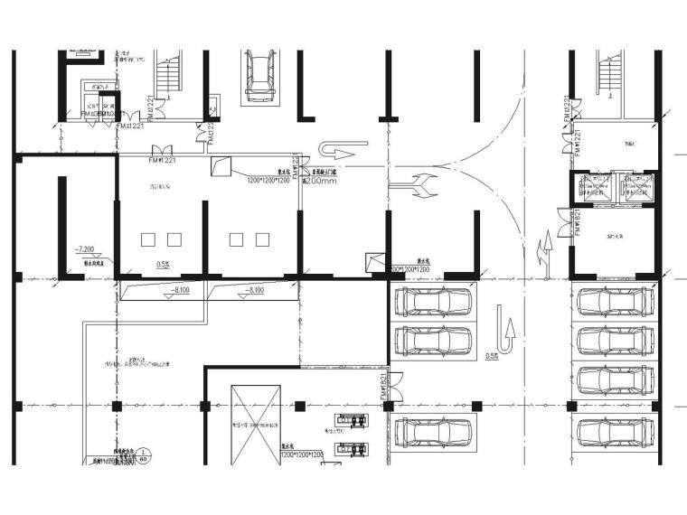 某大厦地下室电气全套最新图纸(接地、消防、动力、照明设计)