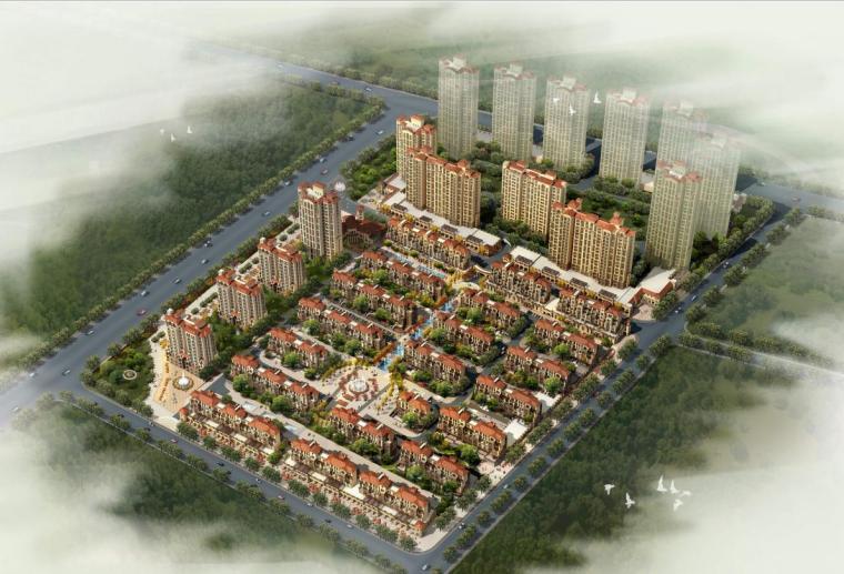 [山东]高层异域西班牙风情住宅建筑设计方案文本