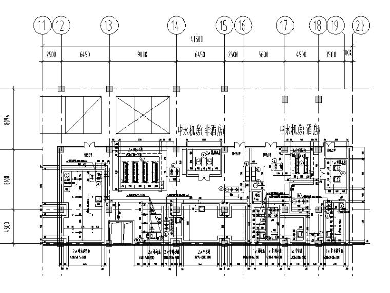 广州白云机场设计图资料下载-MBR膜处理中水回用设计图(CAD)