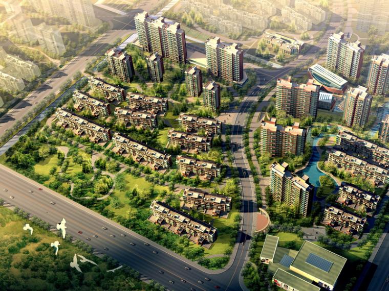[天津]大港经纬置地城市绿洲居住区规划设计(生态)