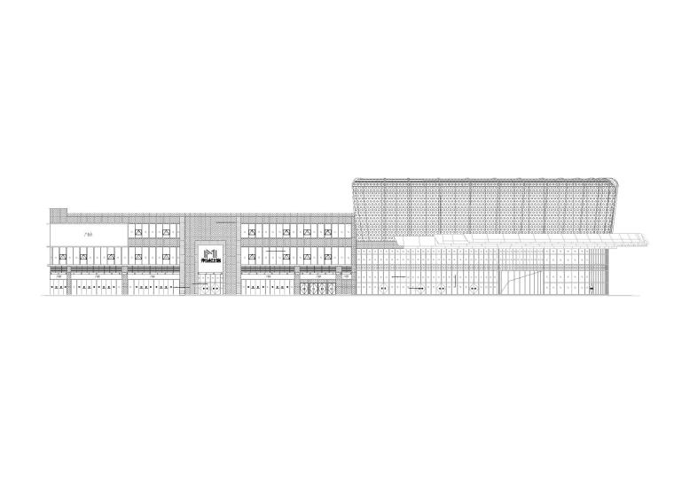 广东利保商贸中心幕墙工程CAD方案图