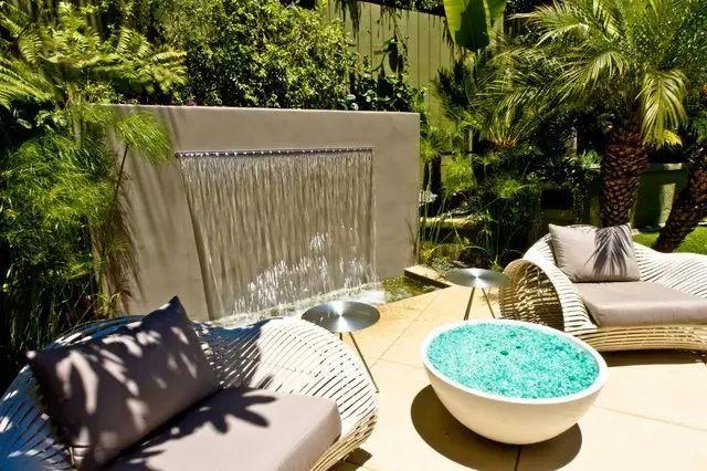 现代水景庭院设计不止招财,更有格调!