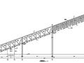 钢桁架及混凝土桁架输煤栈桥结构施工图(CAD、14张)