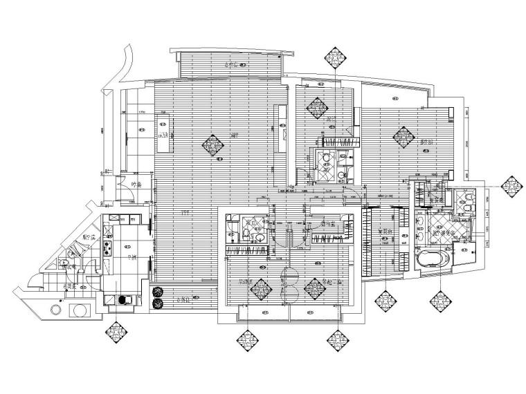 [上海]新中式风格样板间装修全套施工图(附效果图+实景照片)