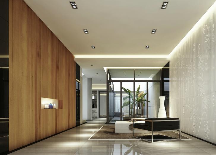 现代中式风格别墅设计CAD施工图(含效果图)_10