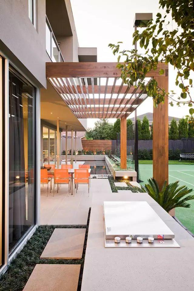 赶紧收藏!21个最美现代风格庭院设计案例_167