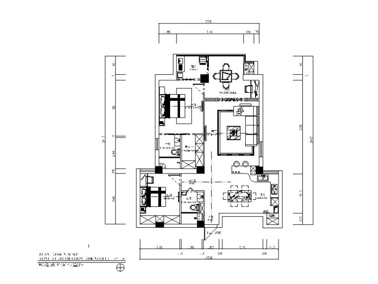 现代风格样板房全套CAD施工图(含效果图)