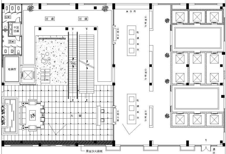 某大型展厅全套施工图设计(附效果图)