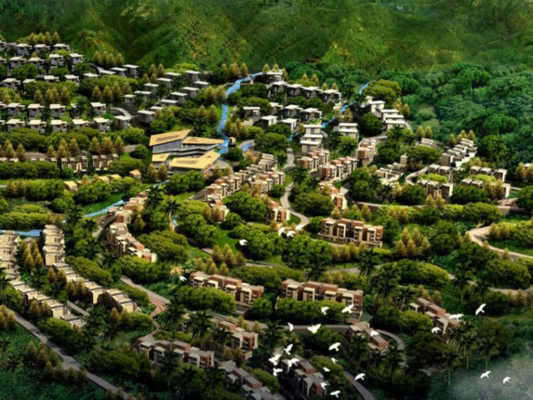 [海南]森林公馆现代别墅规划建筑设计方案文本