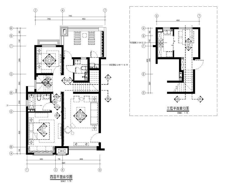 [上海]绿地启东三期现代中式风格样板间施工图+物料表+效果图
