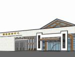 新中式风格旅游服务中心建筑群sketchup模型