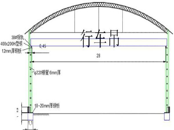 拌合站钢筋加工场龙门吊(悬挂式)施工方案