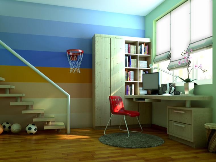 儿童书房3D模型下载