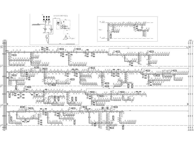 [重庆]高层医院空调通风防排烟系统设计施工图(多联机系统)-地上部分空调水系统原理图1.jpg