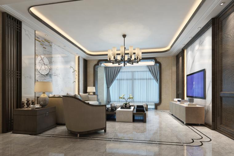 徽派中式整体客厅定制「飞阁流丹」