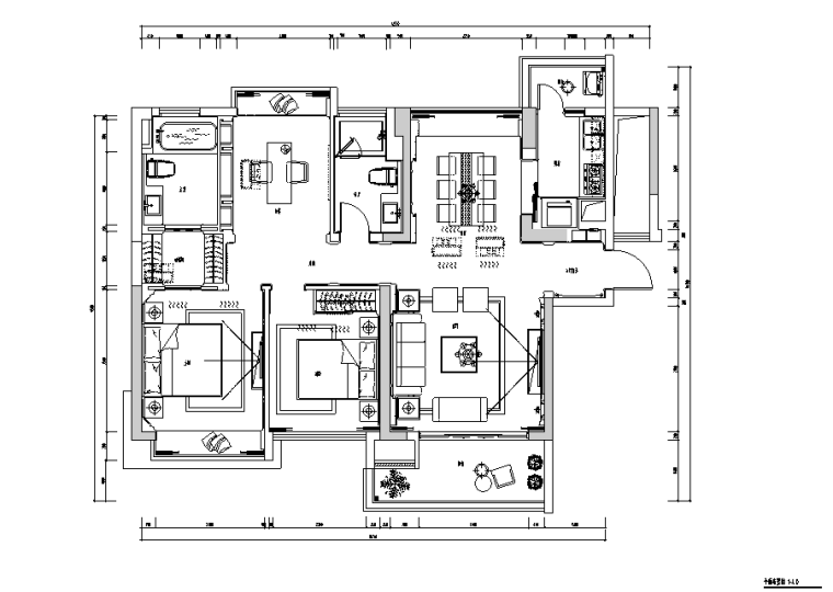 现代简约样板房设计施工图(附效果图)