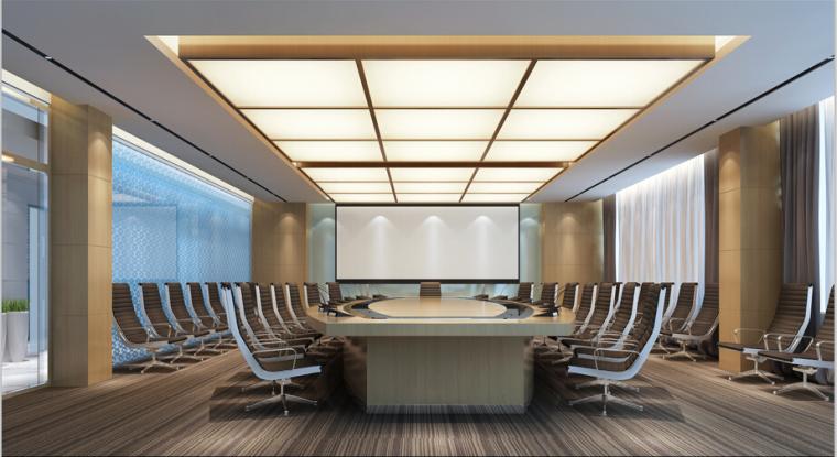 中国烟草集团办公楼设计方案效果图(含3D模型)