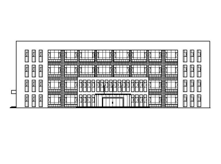 [宁夏]四层现代式框架结构仓储基地建筑施工图