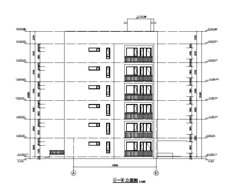 [吉林]多层框架剪力墙结构度假区住宅建筑施工图_5