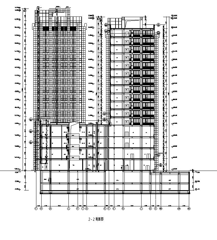 [内蒙古]高层框架结构办公、公寓及商业餐饮建筑施工图_6