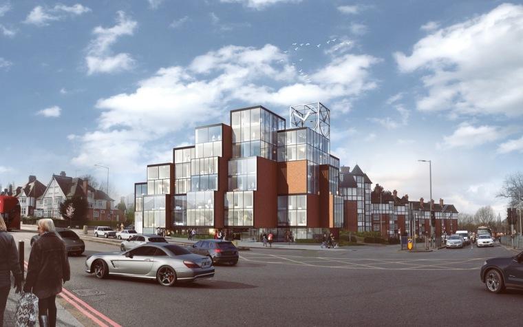 OMA系事务所NEUBAU伦敦像素综合体获得建造许可