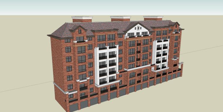 小高层住宅建筑SU模型