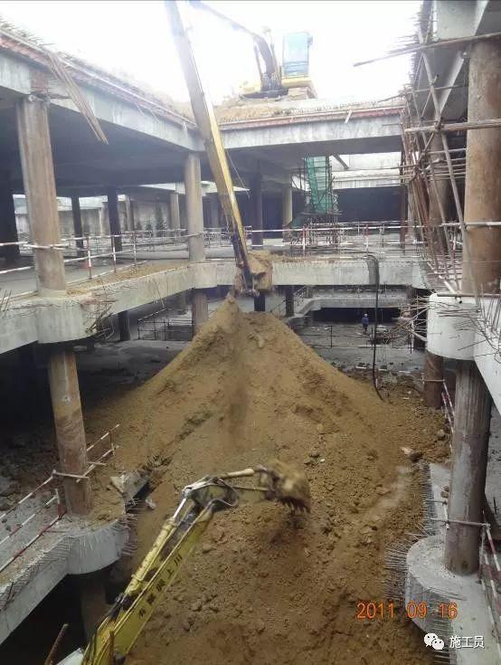 [图解案例]超高层建筑22米深基坑逆作法施工现场,看基础如何倒