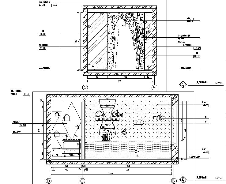 [辽宁]东方现代风格样板房设计施工图(附效果图)