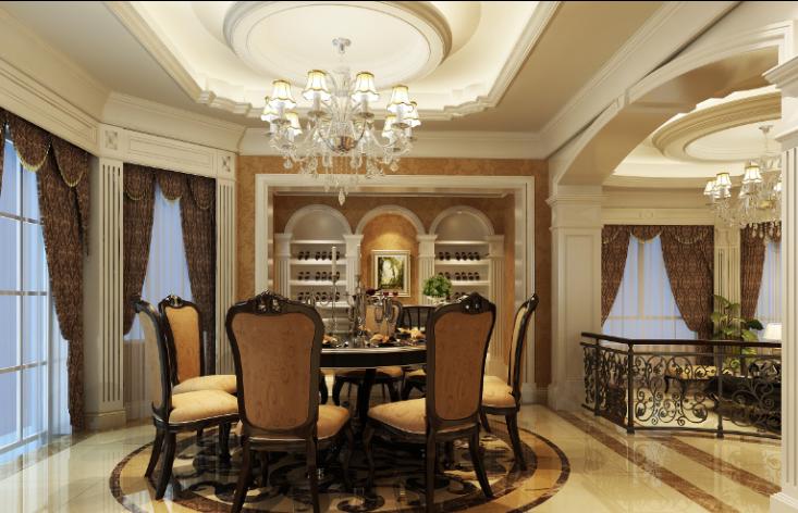 300平独栋欧式风格别墅室内设计施工图_3