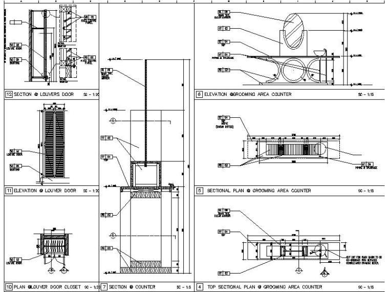 【超全】5600多套室内设计施工图大样节点剖面图合集_4