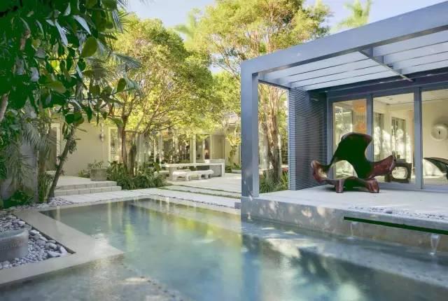 赶紧收藏!21个最美现代风格庭院设计案例_98