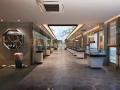 现代复古新中式展览厅3D模型