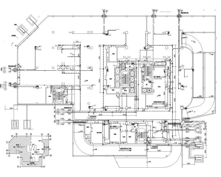 [甘肃]高层建筑给排水施工图(含给排水平面及系统,消防平面及系统,水泵房及卫生间大样等)_2