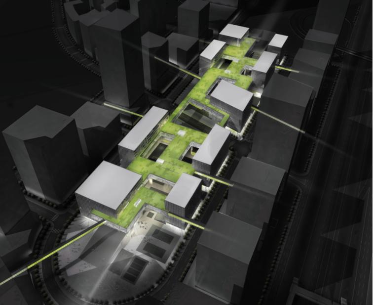 现代风格高层多栋楼科技园建筑设计方案文本