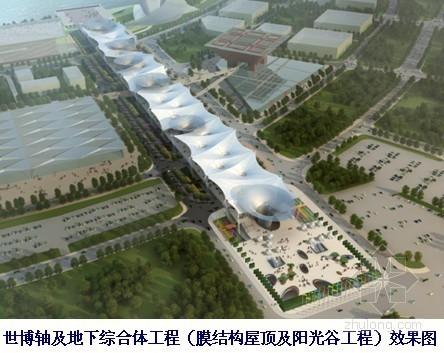 [上海]世博轴及地下综合体工程施工组织设计(索膜结构、鲁班奖)