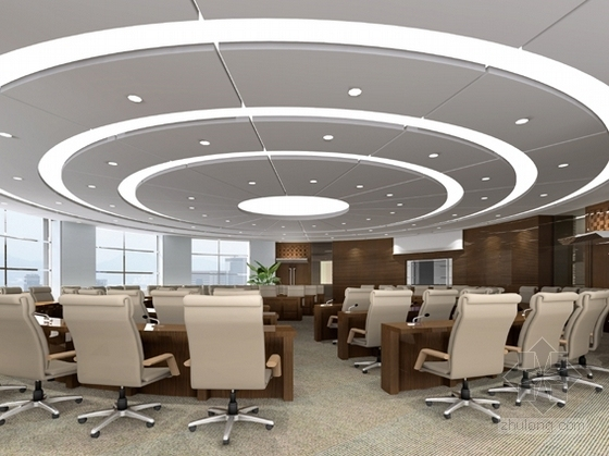 [南昌]大型房地产开发公司售楼处大厅装修图(含效果图) 多功能厅效果图