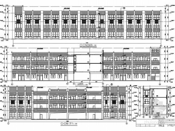 [安徽]三层工字型框架结构小学教学楼建筑结构施工图