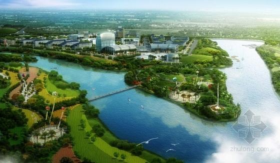 现代风格城市核心片区规划设计方案效果图