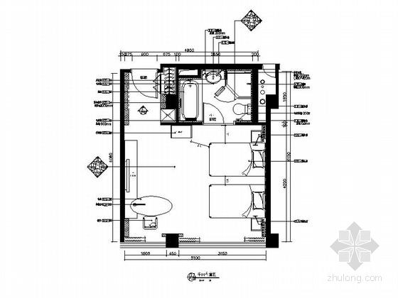[南通]中规中矩标准的酒店客房施工图