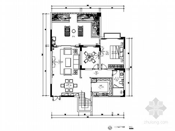 现代风格两层别墅施工图(含效果图)