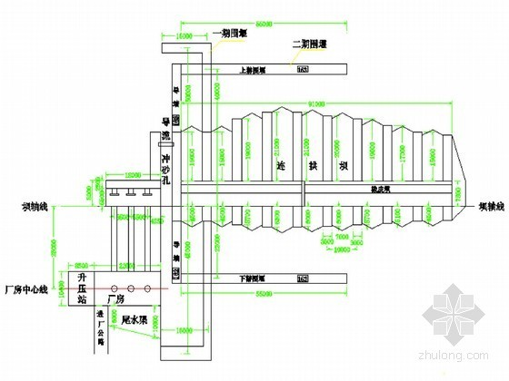水电站枢纽工程初步设计节点详图(重力坝 橡胶坝 防洪墙等)
