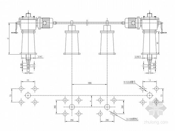 [河北]启闭机安装基础工程施工图