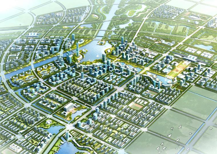 2019建筑竞赛资料下载-[河北]黄骅市城市中心区城市设计竞赛方案文本