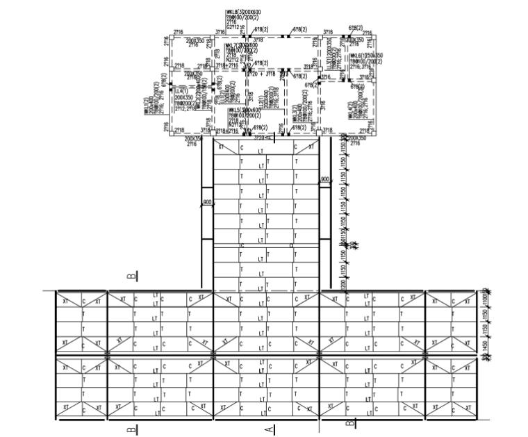 混合结构加油站结构施工图(CAD、9张)